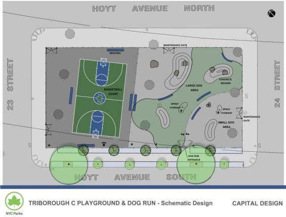 TRIBOROUGH C dog run plan